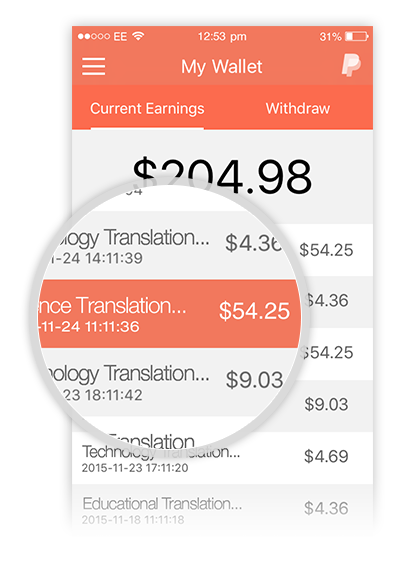 Track Your Earnings